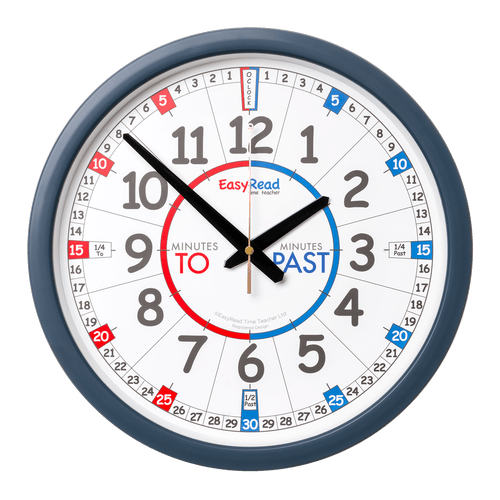 EasyRead 35cm Classroom Clocks - Past/To - Mr. Poco