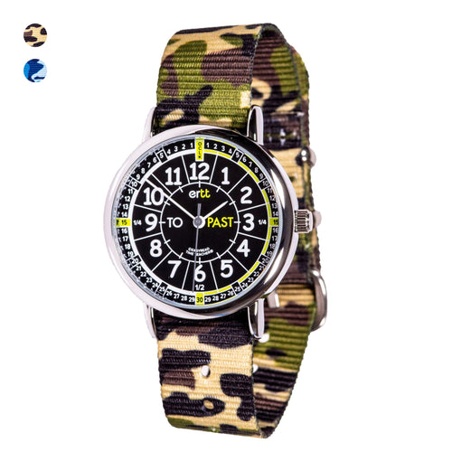 EasyRead Watches (Past & To) - Camo Black - Mr. Poco