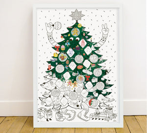 Christmas Tree - Colouring Poster (5897628418213)