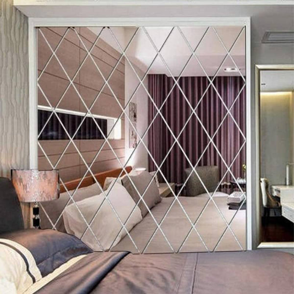 Diamond Splicing Mirror Wall Sticker