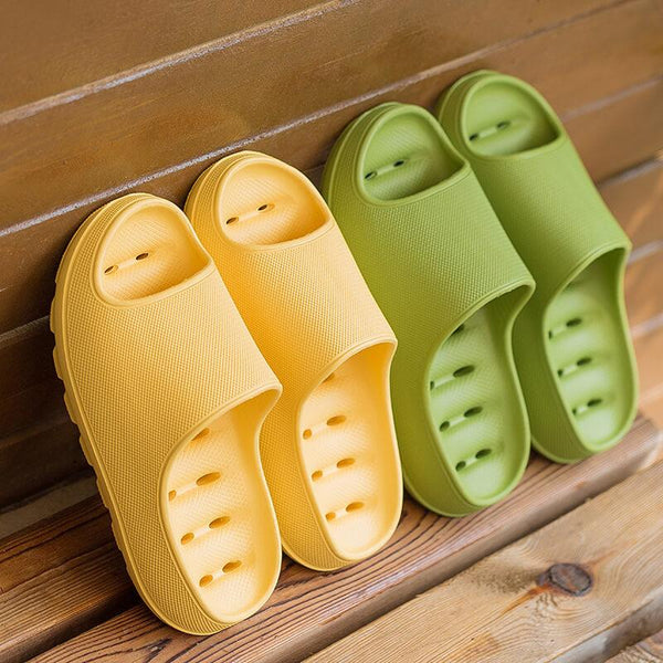 Couple Thick-soled Non-slip Leaky Slippers