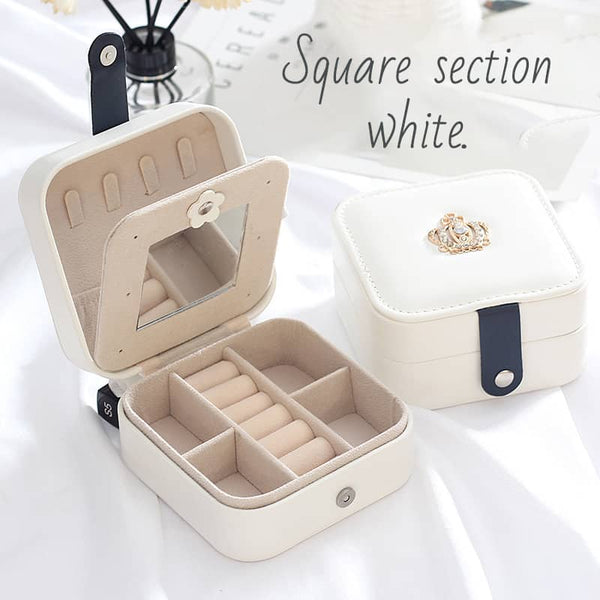 Portable  Double Layer Princess Jewelry Box