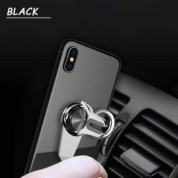 2-in-1 Mobile Phone Ring Holder Car Bracket
