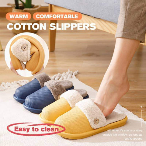 Removable Warm Comfortable Cotton Slippers