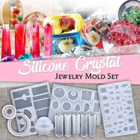 (EARLY SUMMER SALE- Save 50% OFF) DIY Crystal Glue Jewelry Mold Kit