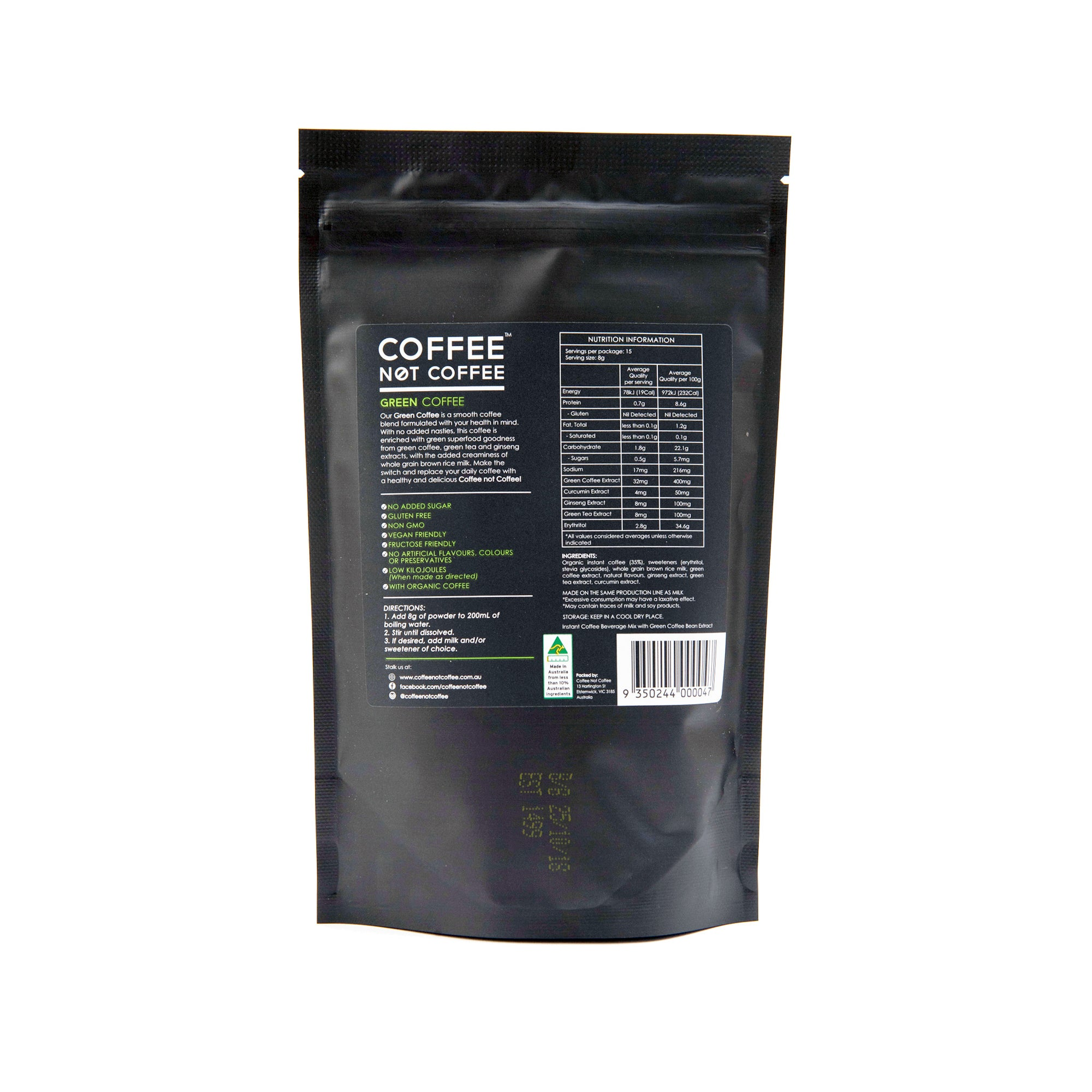 Green Coffee Not White