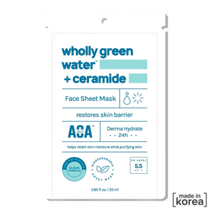 Wholly green water + ceramide Face sheet Mask