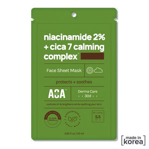 Niamicide 2% + cica 7 calming complex Face sheet Mask