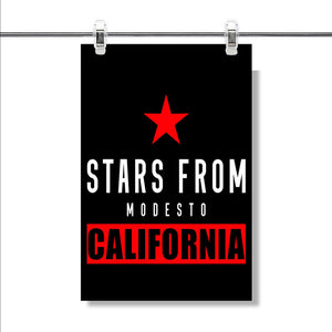 Modesto California Poster Wall Decor