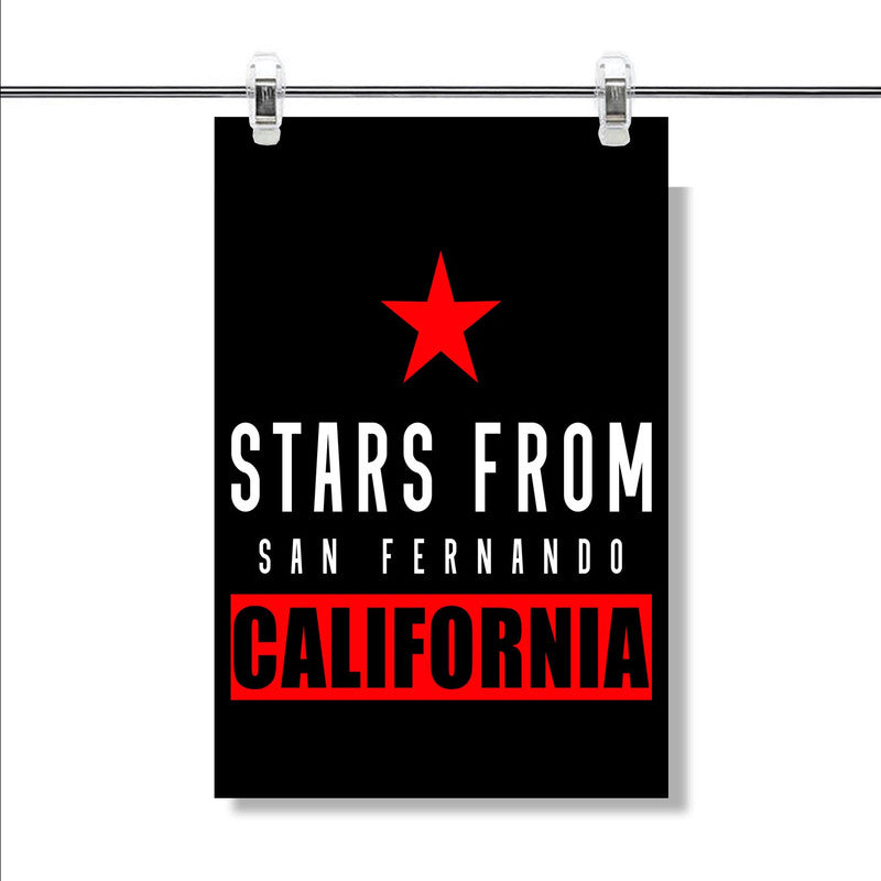 San Fernando California Poster Wall Decor