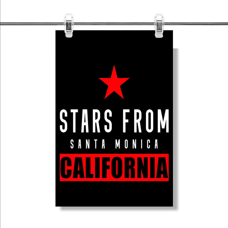 Santa Monica California Poster Wall Decor