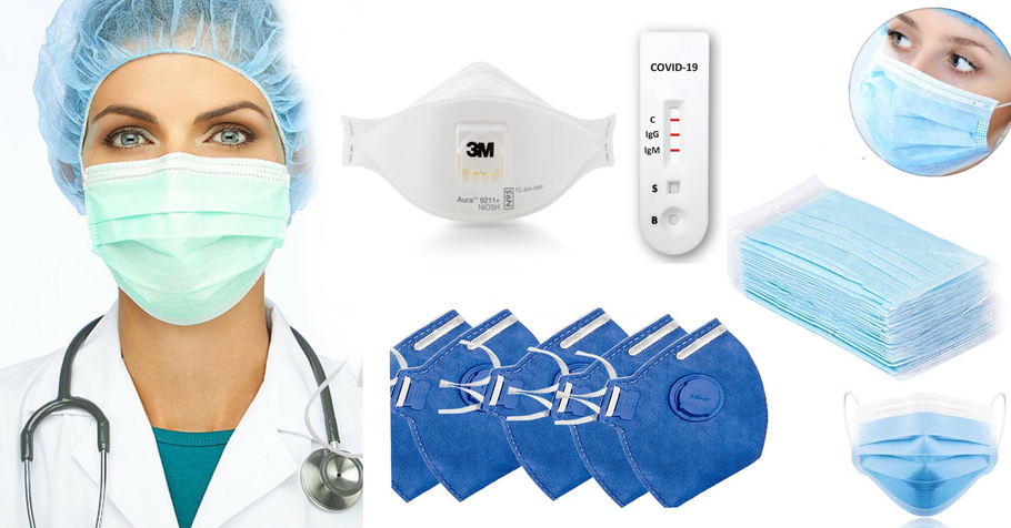 SAVE LIFES With Custom Logo Face Masks, Face Shields, Protection Glasses, Inferred Thermometers And Hand Sanitizers!