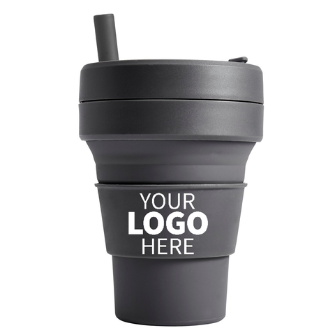 Custom Logo Collapsible Cups | Promotional Foldable Cups