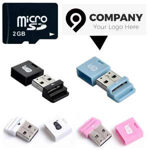 Custom Logo Micro SD Card With Card Reader Adopter