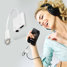 Load image into Gallery viewer, 2 in 1 Aux Headphone Jack Audio & Charge Cable Adapter