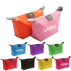 Custom Logo Promotional Nylon Waterproof Toiletry Pouch Travel Bag