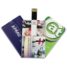 Load image into Gallery viewer, Custom Logo Quality High Credit Card USB Flash Drive 1GB Bank Card Shape Business Card