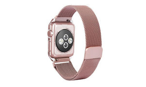Apple Watch Premium Stainless Steel Magnetic Watchband With Watch Cover Case