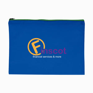 Promotional Custom Logo Woven Document Sleeve With Zipper