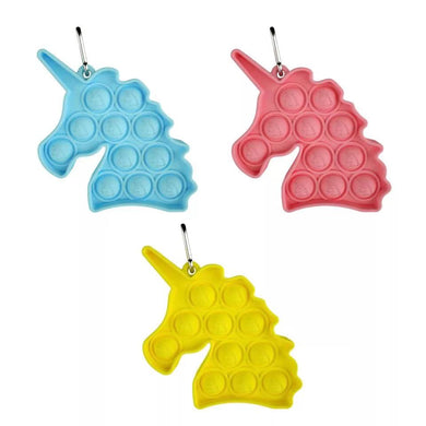 Wholesale Unicorn Key Chain Pop It Fidget Bubble Sensory Toy For Kids Adults