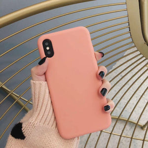 Bulk Solid Candy Color Shockproof Protective Phone Cases for All IPhone Models
