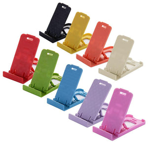 Promotional Custom Logo Mini Plastic Folding Smartphone & Tablet Stand