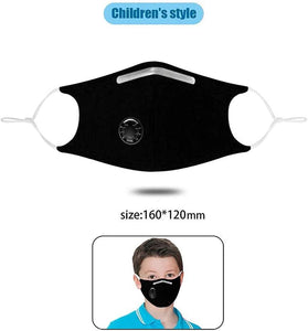 Custom Logo PM2.5 Filter Kids Mask With Extra Carbon Filters Respirator Mask