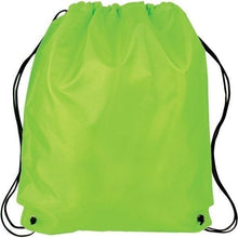 Load image into Gallery viewer, Promotional Custom Logo Polyester Cinch Up Drawstring Backpacks