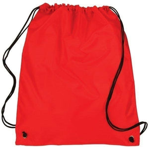 Promotional Custom Logo Polyester Cinch Up Drawstring Backpacks