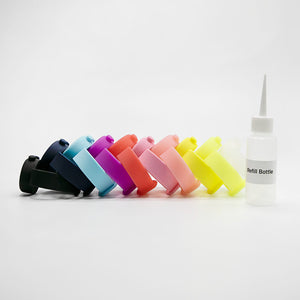 Custom Logo Adjustable Hand Sanitizer Dispenser Silicone Wristbands