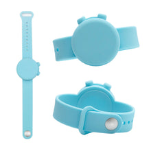 Load image into Gallery viewer, Custom Logo Adjustable Hand Sanitizer Dispenser Silicone Wristbands Round