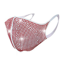 Load image into Gallery viewer, Anti Pollution Bedazzled bling glittery Face Mask With Rhinestone