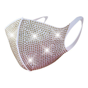 Anti Pollution Bedazzled bling glittery Face Mask With Rhinestone