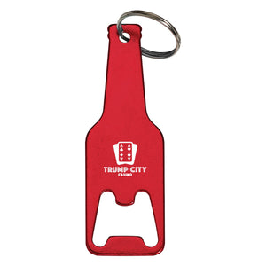 Promotional Custom Logo Bottle Shaped Opener Key Tag