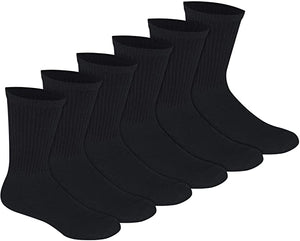 Bulk Crew Socks One Size Fits All Crew Socks in White, Black Or Gray Colors