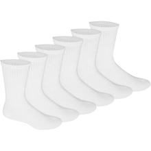 Load image into Gallery viewer, Bulk Crew Socks One Size Fits All Crew Socks in White, Black Or Gray Colors