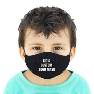 Custom Logo Kids Cotton Face Mask Protects From Dust And Pollution - 2 Ply