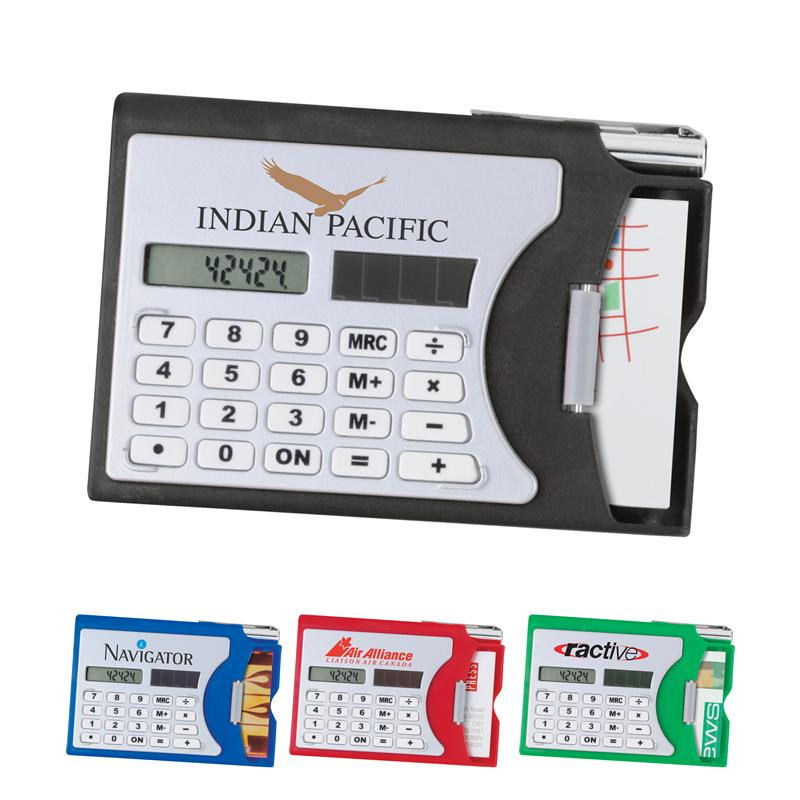 Custom Logo Calculator Business Card Holder