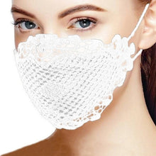 Load image into Gallery viewer, Charming Stylish Brief Solid Lace Mouth Mask Fashion Women's Face Mask Mouth Mask