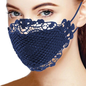 Charming Stylish Brief Solid Lace Mouth Mask Fashion Women's Face Mask Mouth Mask