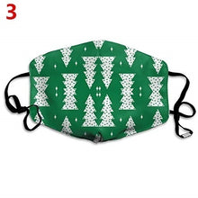 Load image into Gallery viewer, Christmas Unisex Face Masks Christmas Tree Santa Elk Print Windproof Mask Washable Breathable Mask Festival Mask