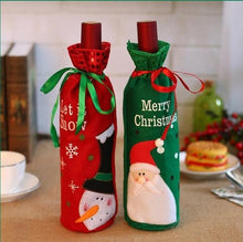 Load image into Gallery viewer, Custom Logo Christmas Wine Bottle Cover Bags Snowman Santa Claus