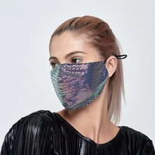 Load image into Gallery viewer, Creativity Women Fashion Sequins Mask Outdoor Summer Sunscreen Adjustable Face Mask Dustproof Mouth Mask