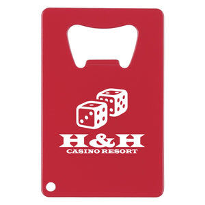 Promotional Custom Logo Credit Card Shaped Bottle Opener