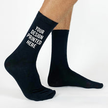 Load image into Gallery viewer, Custom Logo Crew Socks Promotional Black Or White Socks, One Size Fits All Crew Socks