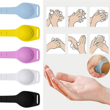 Load image into Gallery viewer, Bulk Wholesale Squeeze Wristband Hand Sanitizer Dispenser