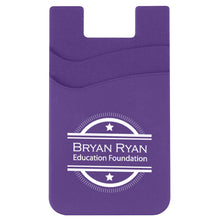 Load image into Gallery viewer, Promotional Custom Logo Dual Pocket Silicone Phone Wallet