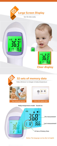 Custom Logo Infrared Digital Thermometer Forehead Non Touch Temperature Gun