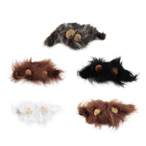 Hot Sale Pet Cat Dog Dress Up Costume Wig Emulation Lion Hair Mane Ears Head Cap Autumn Winter Muffler Scarf Pet Products