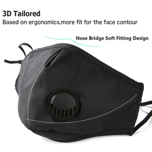 Bulk Fashion PM2.5 Filter Face Mask With Extra Carbon Filter Respirator Mask